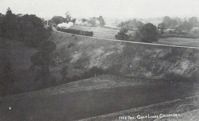 North Wilts Golf Club, Chiseldon. The first tee on the golf course.
