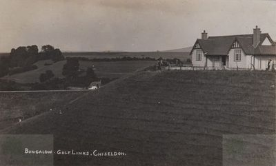 North Wilts Golf Club, Chiseldon. The Bungalow on the golf links.