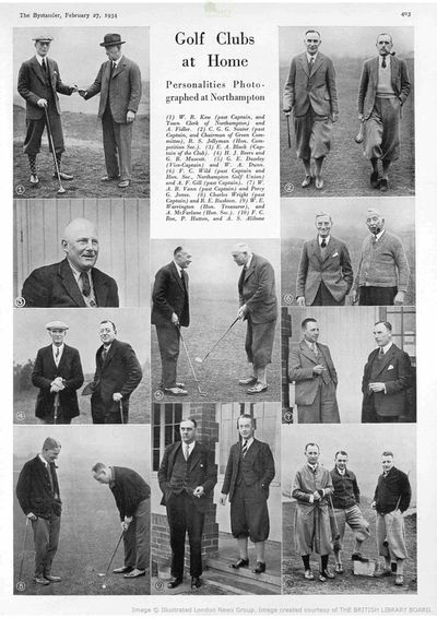 Northampton Golf Club, Kettering Road. Article from The Bystander in February 1934.