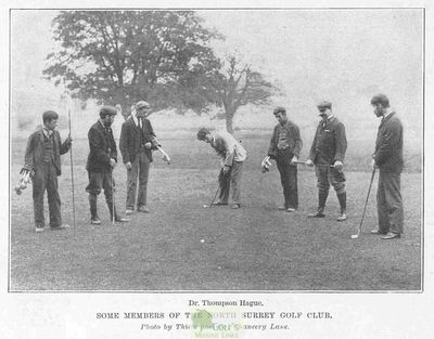 North Surrrey Golf Club. Article from The Sketch November 1897.