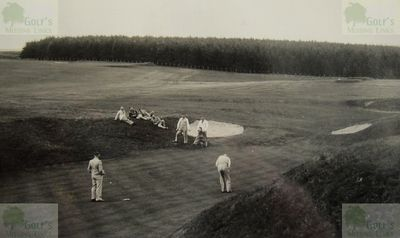 Otterburn Hall Golf Club, Northumberland. Picture of the golf course from the late 1930s.