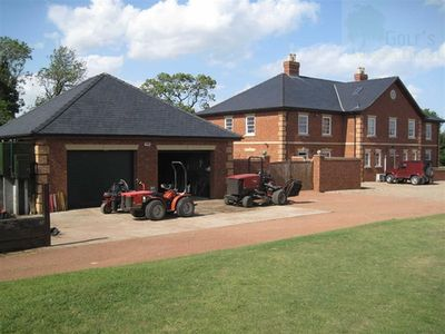Owmby Golf Club, Market Rasen, Lincs. The clubhouse.