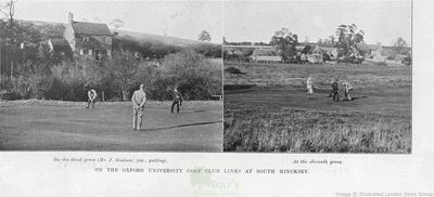 Oxford University Golf Club, South Hinksey. Images from The Illustrated Sporting Dramatic News December 1904.