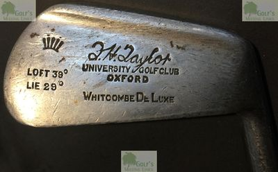 Oxford University Golf Club. F H Taylor stamped six-iron, professional from 1923-WW2.
