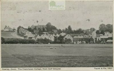 Oxford University Golf Club, South Hinksey. Postcard with a view from the golf course in 1918.