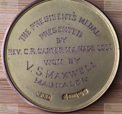 Oxford University Golf Club. Oxford University Golf Club Presidents Medal from 1926.
