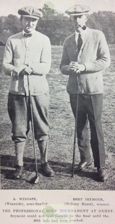 Oxhey Golf Club, Hertfordshire. Sydney Wingate and Bert Seymour at Oxhey in 1921.