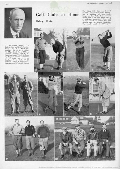 Oxhey Golf Club, Hertfordshire. Article from The Bystander January 1938.