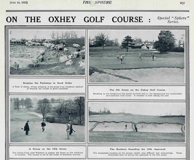 Oxhey Golf Club, Hertfordshire. Article from The Sphere June 1922.
