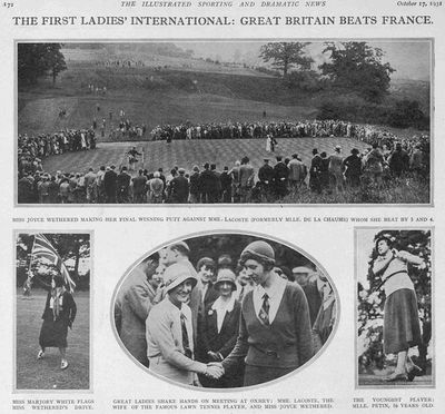 Oxhey Golf Club, Herts. The First Ladies' International.