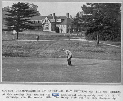 Oxhey Golf Club, Herts. The County Championship at Oxhey in 1920.