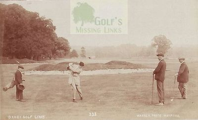 Oxhey Golf Club, Herts. Early postcard of the Oxhey course.