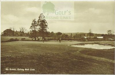 Oxhey Golf Club, Herts. The fourth green.