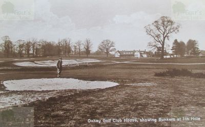 Oxhey Golf Club, Herts. The bunkers on the seventh hole.