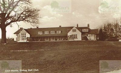 Oxhey Golf Club, Herts. The Oxhey clubhouse.