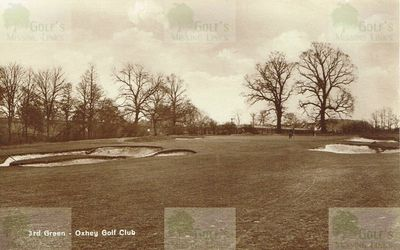 Oxhey Golf Club, Herts. The third green.