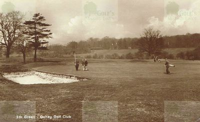 Oxhey Golf Club, Herts. The fifth green.