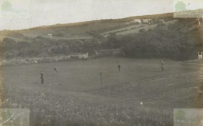 Penzance Golf Club, Cornwall. View of the Penzance golf course at Sancreed.