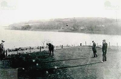 Porthgwidden Golf Course, Cornwall. The ninth green c 1910.
