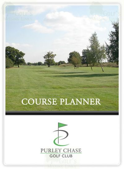 Purley Chase Golf Club, Nuneaton. Course planner with view of the course.