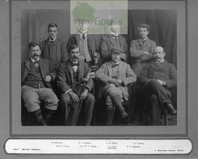 Royal Agricultural College Golf Club, Cirencester. The 1896 R.A.C golf team.