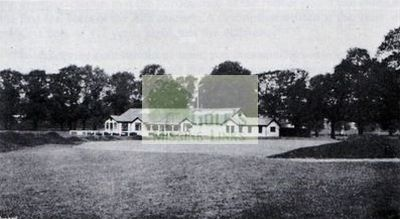 Raynes Park Golf Club, Surrey. The clubhouse.