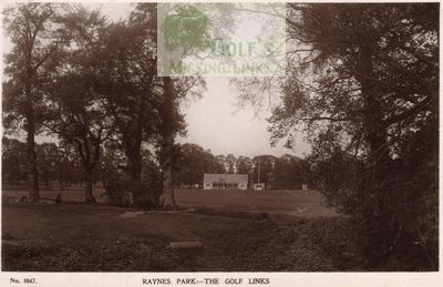 Raynes Park Golf Club, Surrey. The clubhouse and course.