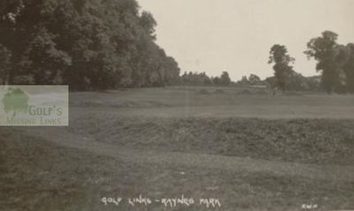 "Raynes Park Golf Club, Surrey, The course with ""cop bunkers."""