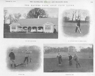 Raynes Park Golf Club, Surrey. Article from The Illustrated Sporting Dramatic News January 1901.