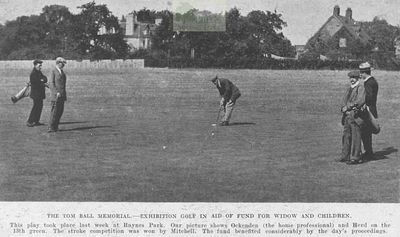 Raynes Park Golf Club, Surrey. Article from The Illustrated Sporting Dramatic News October 1919.