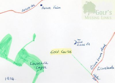 Reading Golf Club, Berkshire. Location of the earlier golf course.