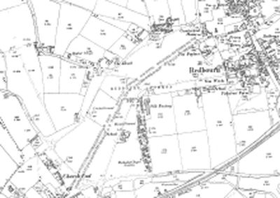 Redbourn Golf Club, Hertfordshire. The area on the 1899 O.S map no course marked.