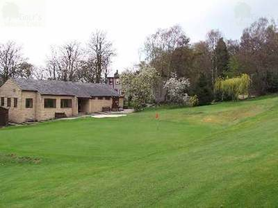 Riddlesden Golf Club, Keighley, Yorks. The clubhouse and course.