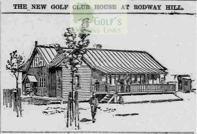 Rodway Hill Golf Club, Mangotsfield, Gloucestershire. The new clubhouse in 1902.