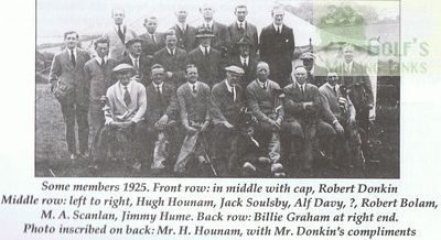Rothbury Golf Club, Northumberland. Group picture 1925.