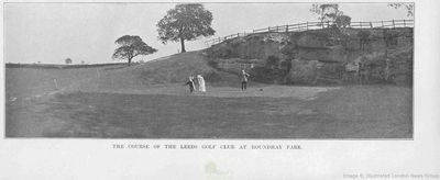 Leeds (Roundhay) Golf Club, Yorkshire. From the Illustrated Sporting Dramatic News November 1914.