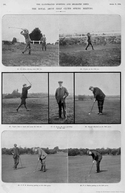 Royal Ascot Golf Club, Berkshire. Article from Illustrated Sporting Dramatic News 1904.