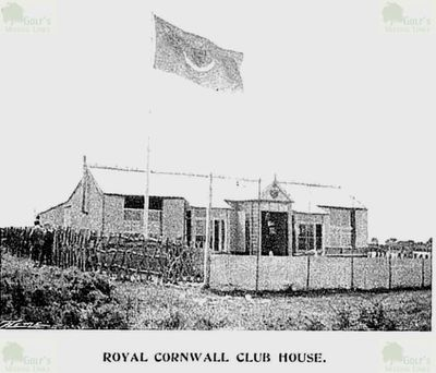 Royal Cornwall Golf Club, Bodmin. Clubhouse at the turn of the century.