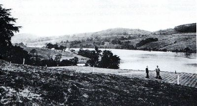 Rudyard Lake Golf Club, Staffs. Early postcard of the course.