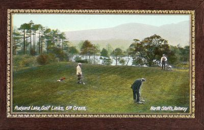 Rudyard Lake Golf Club, Staffs. The sixth green.