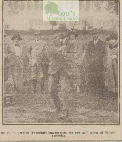 Saltash Golf Club, Cornwall. The opening drive.