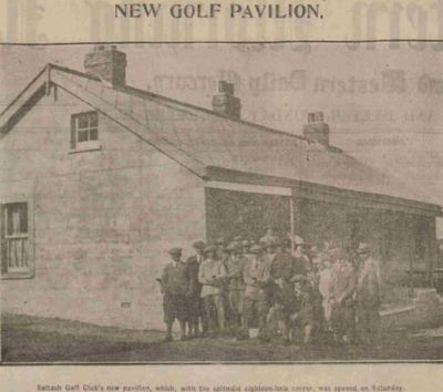 Saltash Golf Club, Cornwall. The new clubhouse at the opening.