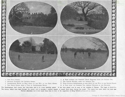 Sandringham Golf Course, Norfolk. Article from The Sketch in June 1910.