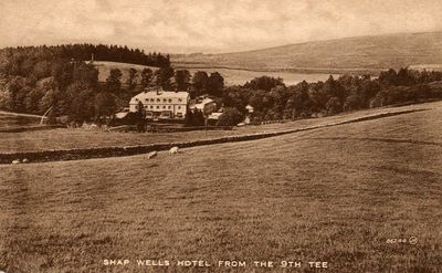 Shap Wells Golf Club, Cumbria. The Hotel from the golf course.