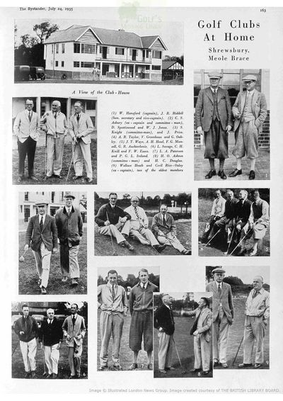 Shrewsbury Golf Club, Meole Brace. Article from The Bystander July 1935.