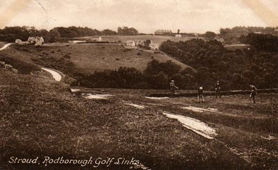 Stroud Golf Club, Gloucestershire. A view of the course following WW1.