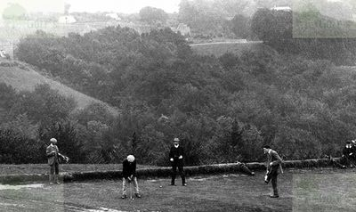 Stroud Golf Club, Rodborough Common, Gloucestershire. A view of the course in the 1900s.