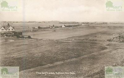 Sutton-on-Sea Golf Club, Lincolnshire. Postcard of the course stamped in 1939.