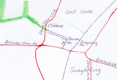 Swaythling Golf Club, Southampton. Location of the golf course.