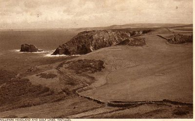 King Arthur's Castle Golf Club, Tintagel, Cornwall. View of the course.
